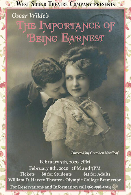 """West Sound Theatre Company Presents """"The Importance of Being Earnest"""" in February"""