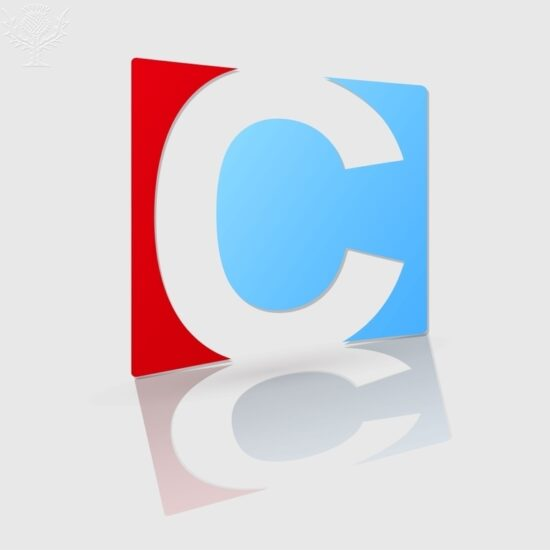 Abstract icon based on the letter c - Britannica ImageQuest