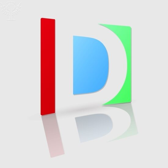 Abstract icon based on the letter d - Britannica ImageQuest