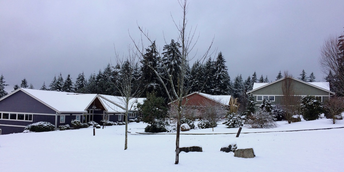 Snow-covered WSA campus - February 7, 2017