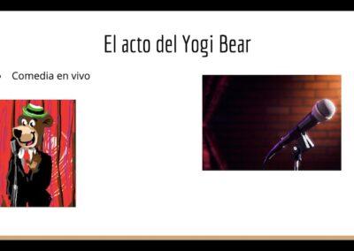El acto de Yogi Bear