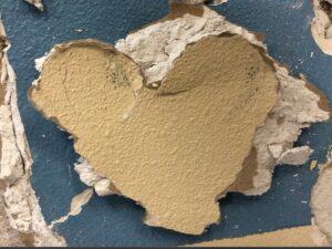 Heart left from tearing down the room-divder walls