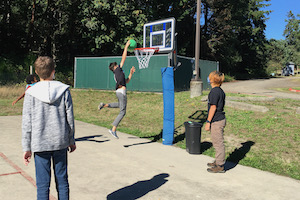 Basketball dunk shot - October 2021
