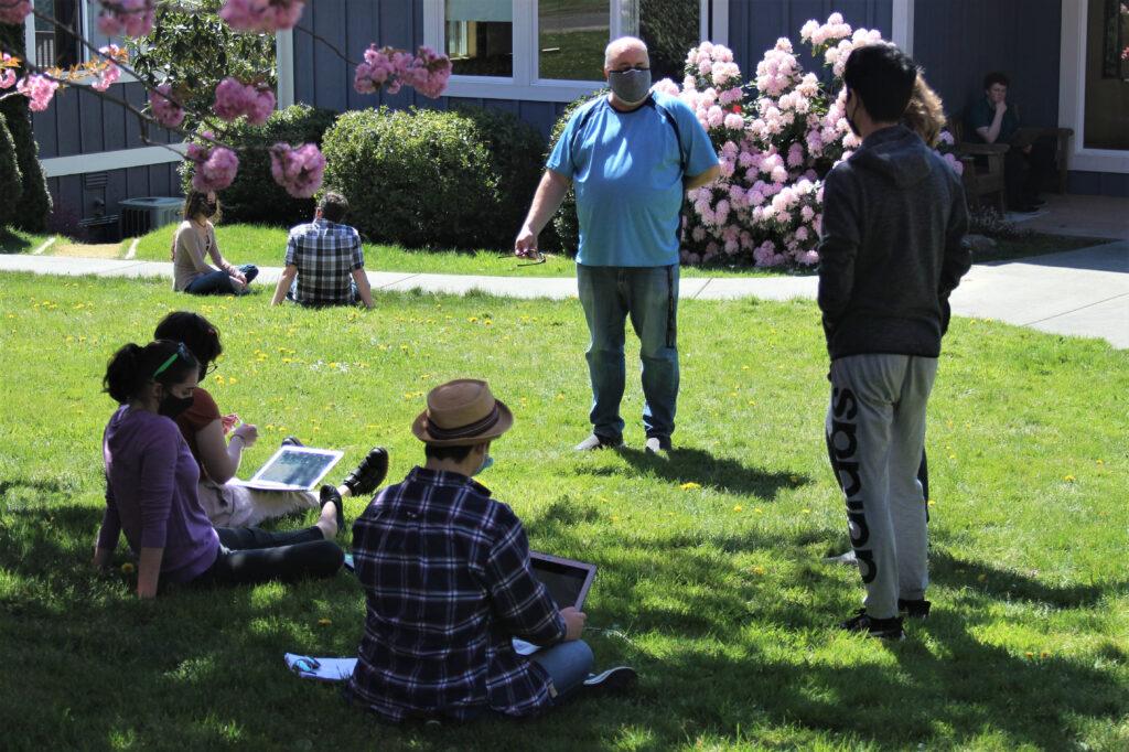 Ben Owen and students, April 2021