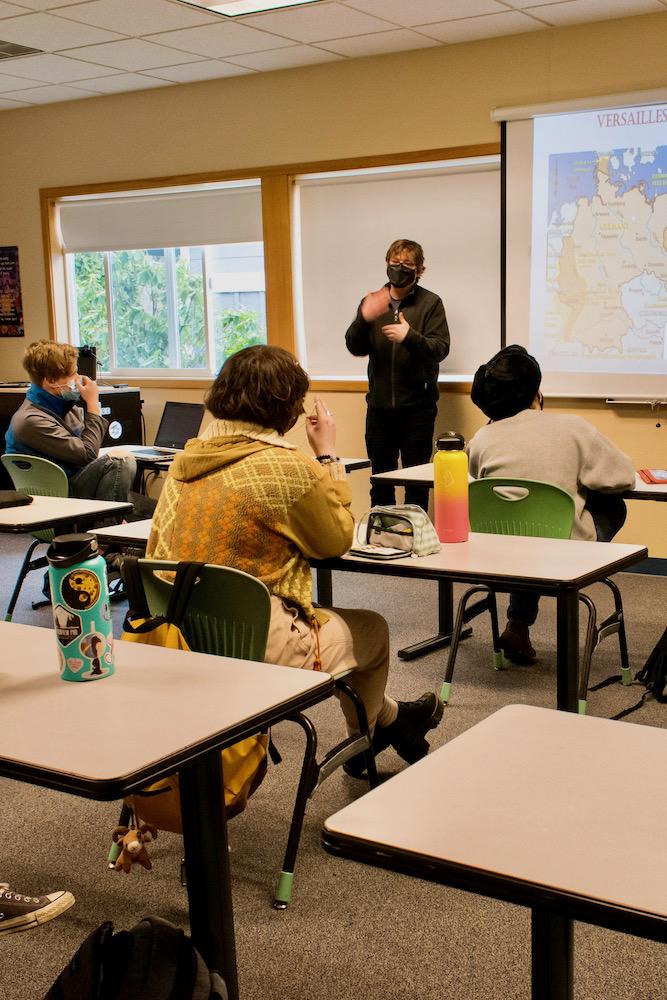 Eric Bright teaching IB History