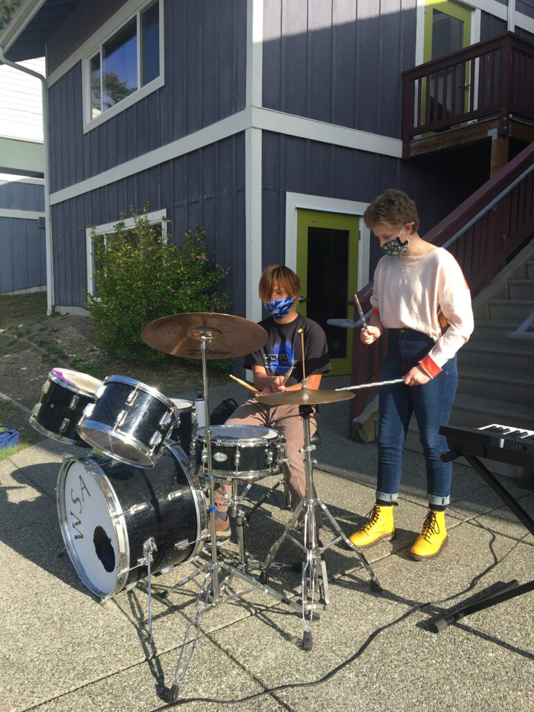 Middle School music outside