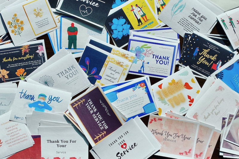 Thank you card project for our essential workers and first responders
