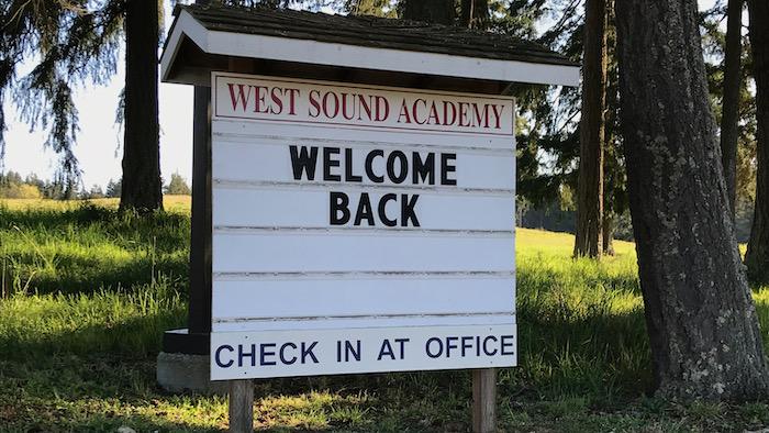WSA signboard - welcome back!